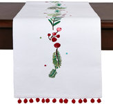 tag Embroidered Holiday Table Runner