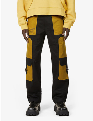 Private Policy Relaxed-fit straight cotton-twill cargo trousers
