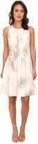 Calvin Klein Printed Fit & Flare Scuba Dress