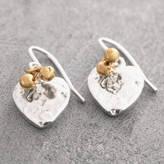 Otis Jaxon Silver Jewellery Silver Heart Earrings With 18 K Gold Beads
