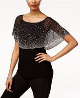 MSK Embellished Tiered Top