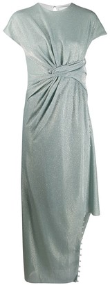 Lanvin Mint Green Asymmetric Dress