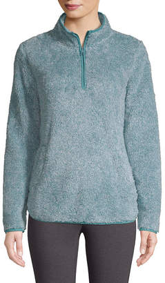 ST. JOHN'S BAY SJB ACTIVE Active Sherpa Midweight Faux Fur Pullover