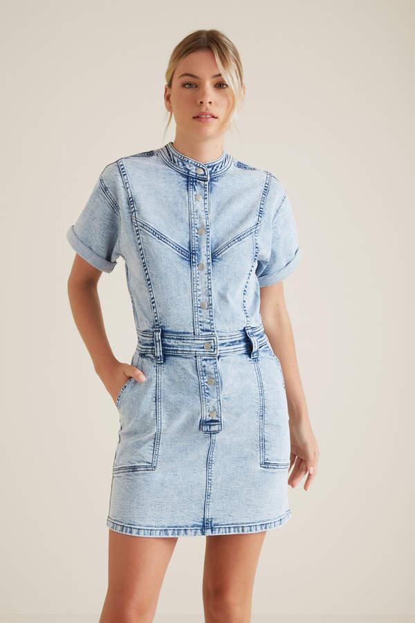 Seed Heritage Acid Wash Denim Dress