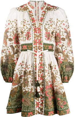 Zimmermann Empire floral-print buttoned dress