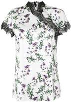 Blumarine lace trim floral top