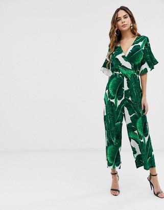 AX Paris leaf print jumpsuit