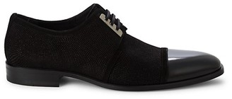 Mezlan Leather Suede Cap-Toe Oxfords