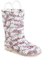 Western Chief 'Hello Kitty(R)' Light Up Rain Boot