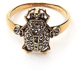 Alexander McQueen Skull Rhinestone Ring