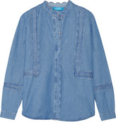 MiH Jeans Ile scalloped cotton-chambray shirt
