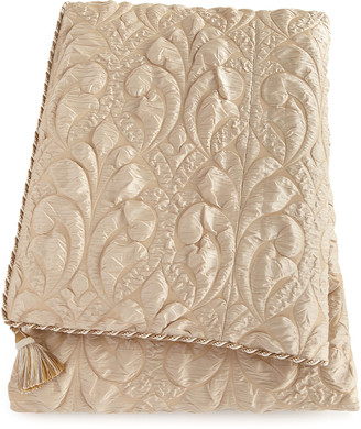 Dian Austin Couture Home Neutral Modern Queen Damask Duvet Cover