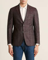Lauren Ralph Lauren Eggplant Lane Windowpane Wool-Blend Sport Coat