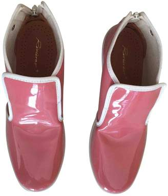 Rivieras Pink Plastic Ankle boots