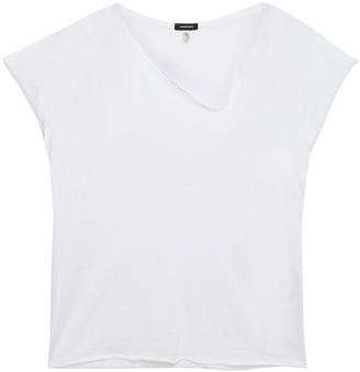 R 13 Asymmetric Slub Cotton And Cashmere-blend Jersey T-shirt