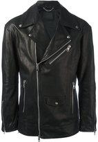 Diesel Black Gold 'Loghan' biker jacket - men - Bullhide Leather/Acetate/Cupro/Polyester - 46
