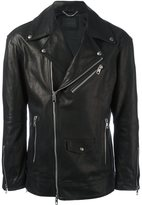 Diesel Black Gold 'Loghan' biker jacket - men - Polyester/Acetate/Cupro/Bullhide Leather - 46