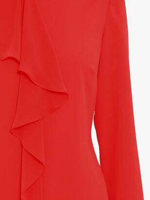 Gina Bacconi Thandie Moss Crepe Chiffon Frill Dress
