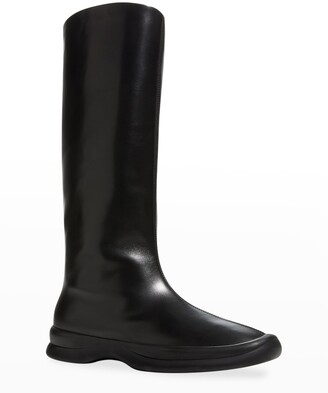 The Row Town Leather Tall Boots
