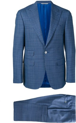 Canali Check Two-Piece Formal Suit