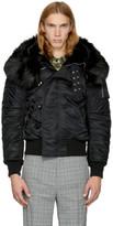 Faith Connexion Reversible Black Nylon and Faux-fur Jacket