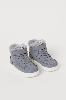 H&M Faux shearling-lined hi-tops
