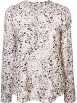 Rebecca Taylor floral print longsleeved blouse