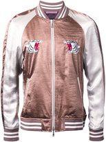 GUILD PRIME embroidered tiger bomber jacket