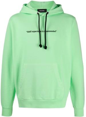 Diesel pigment-dyed hoodie