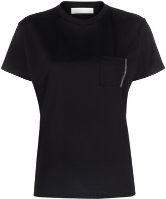 Fabiana Filippi Embellished-Pocket T-Shirt