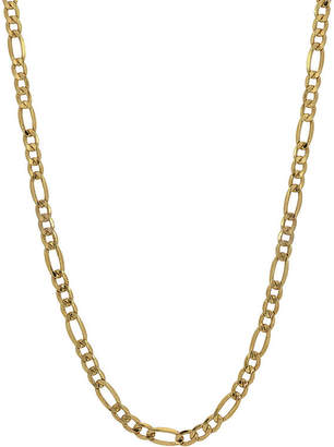 FINE JEWELRY 10K Gold 24 Inch Hollow Figaro Chain Necklace