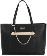 Armani Jeans chain embellished tote