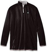 Champion Men's Big-Tall Poly Jersey Long Sleeve 1/4 Zipper