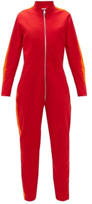Bolt X Edie - Upcycled Cotton-drill Jumpsuit - Red