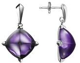 Baccarat Medicis Silver Gemstone Drop Earrings.