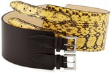 McQ by Alexander McQueen Back Buckle Belt Yellow/Black