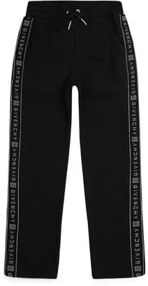 Givenchy Kids Metallic Logo Tape Sweatpants