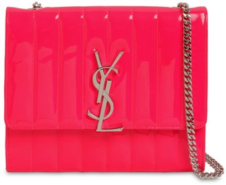 Saint Laurent Viki Quilted Leather Chain Wallet Bag