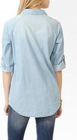 Forever 21 Raglan Sleeve Denim Shirt