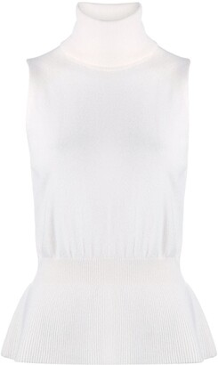 Veronica Beard Ribbed Knit Vest Top