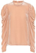 Ulla Johnson Giles velvet blouse