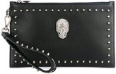 Philipp Plein embellished clutch bag - women - Leather - One Size