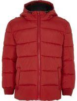 River Island Boys red puffer coat