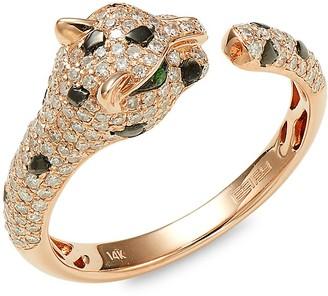 Effy 14K Rose Gold, Diamond Tsavorite Ring