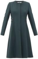 Goat January Single-breasted Wool-crepe Coat - Womens - Dark Green