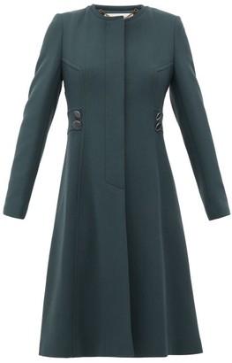 Goat January Single-breasted Wool-crepe Coat - Dark Green
