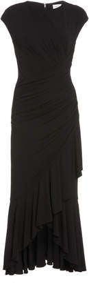 Michael Kors Ruched Jersey Wrap Dress