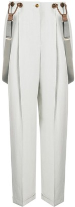 Giorgio Armani Detachable-Suspender Pleated Trousers