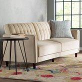 Bungalow Rose Arwen Pin Tufted Convertible Sofa