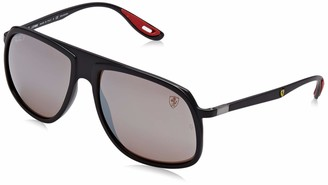 Ray-Ban Men's RB4308M Scuderia Ferrari Collection Square Sunglasses